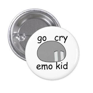Go Cry Emo Kid Dango Button