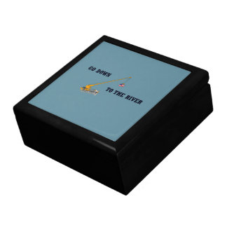 Go down to the river large square gift box