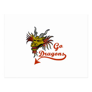 GO DRAGONS POSTCARD