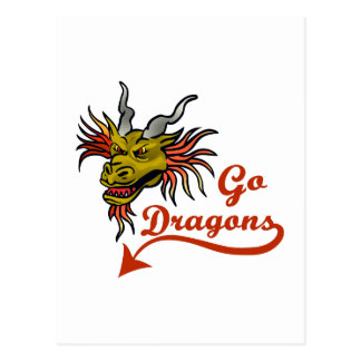 GO DRAGONS POST CARD