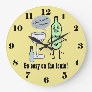 Go easy on the tonic large clock
