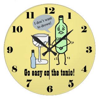 Go easy on the tonic wall clock