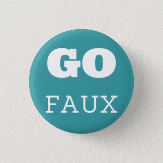 GO FAUX 3 CM ROUND BADGE