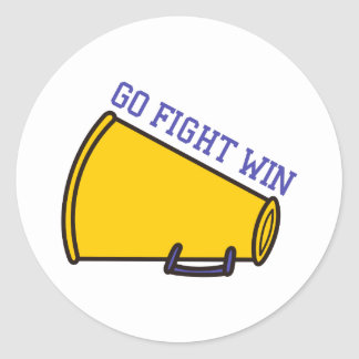 Go Fight Win Round Sticker