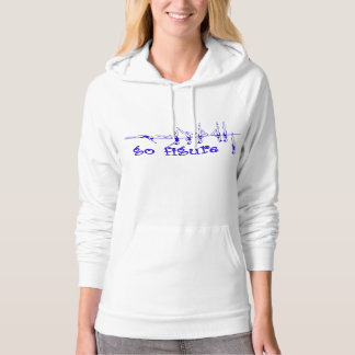 go figure - Royal on White Hoodie