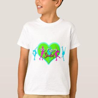go figure skate blue & pink skaters T-Shirt