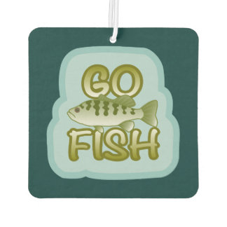 * Go Fish Bass on Speckled Light Blu Car Air Freshener