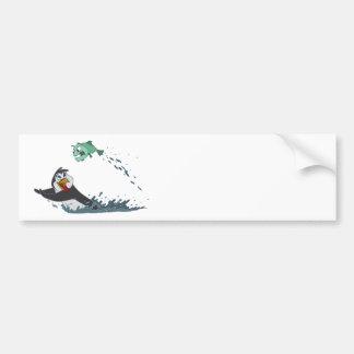 """""""Go Fish"""" Penguin Bumper Stickers"""