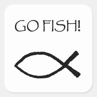 Go Fish Square Sticker