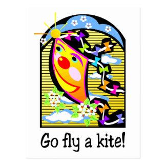 Go Fly a Kite 3 Postcard