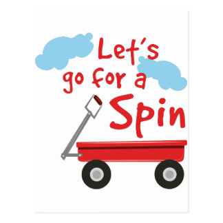 Go For Spin Postcard