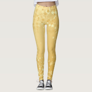 Go for the Gold and Be a Star Leggings