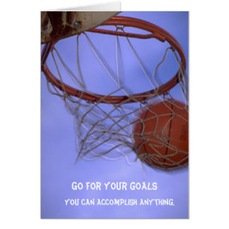 Go For Your Goals Greeting Card
