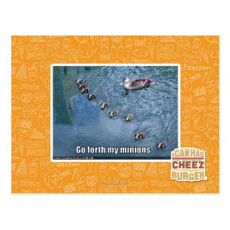 Go forth my minions postcard