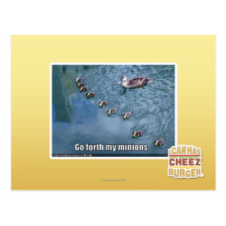 Go forth my minions postcard