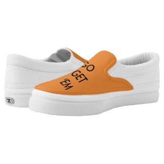 Go Get 'em Tiger Orange Slip on! Slip On Shoes