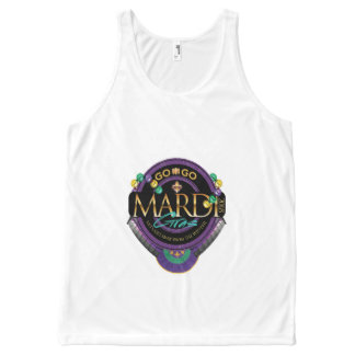 GO-GO MARDI GRAS UNISEX TANK TOP All-Over PRINT TANK TOP
