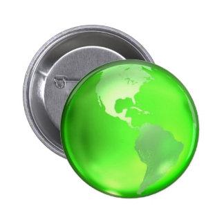 Go Green 6 Cm Round Badge
