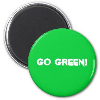 Go Green! 6 Cm Round Magnet