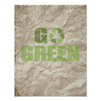 GO GREEN AND RECYCLE POSTER
