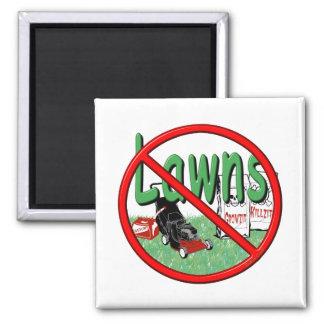 Go Green Anti-Lawn Refrigerator Magnet