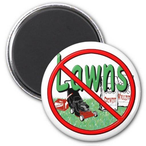 Go Green Anti-Lawn Fridge Magnets