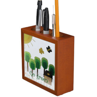 Go Green Art Landscape Desk Organizer