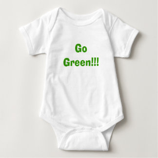 Go Green!!! Baby Bodysuit