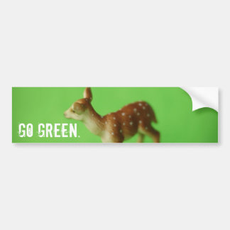 Go Green. Bumper Sticker