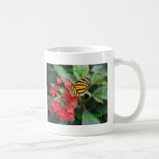 GO GREEN! Butterfly Colors of Spring Basic White Mug