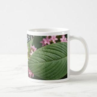 GO GREEN! Butterfly Flower Coffee Mugs
