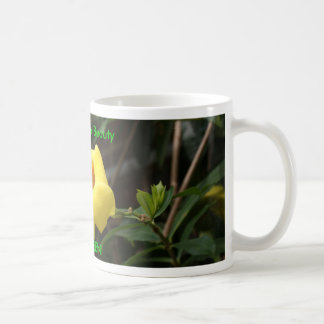 GO GREEN! Butterfly on Yellow Flower Coffee Mug