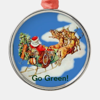 Go Green Christmas Ornament
