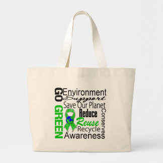 Go Green Collage Tote Bags
