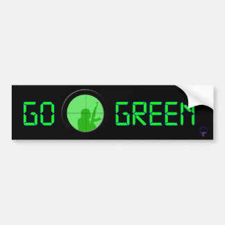 Go Green (digital readout) Bumper Sticker