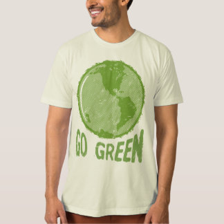 Go Green: Distressed Planet Earth! Save the World! T-Shirt