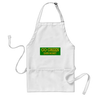 GO GREEN EARN MONEY STANDARD APRON