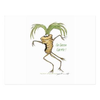 Go Green - Eat Me!, tony fernandes Postcard