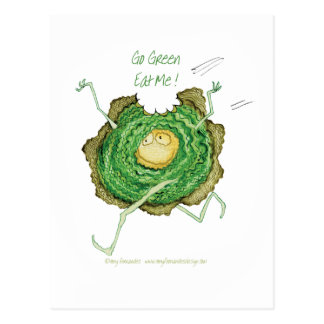Go Green - Eat Me!, tony fernandes Post Cards