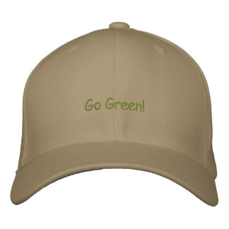 Go Green! Embroidered Hat