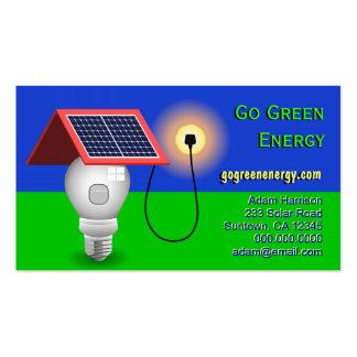 Go Green Energy Solar Power Business Cards