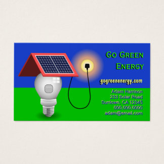 Go Green Energy Solar Power Business Cards