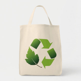 Go Green Environment Grocery Tote Bag