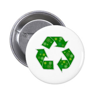 Go Green Flower Power Recycle Button