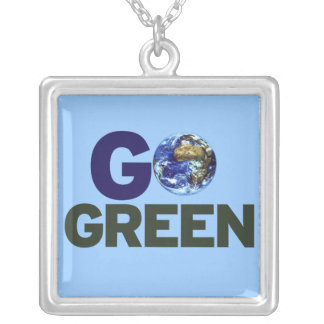 Go green for earth day pendant