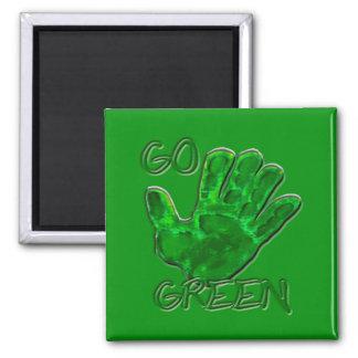 go green for Earth Magnet