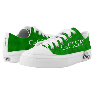 Go GREEN! Forrest Pattern Low Top Canvas Shoes