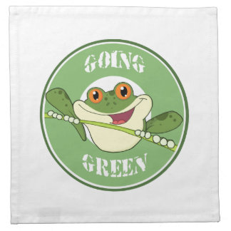 Go Green Frog Napkin