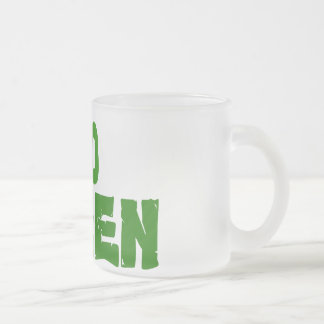 GO Green Frosted Glass Mug