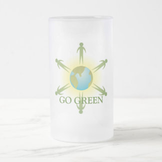 Go Green Frosted Mug